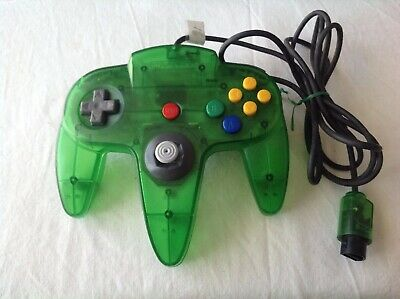 AU50 • Buy N64 Clear Lime Green Controller Used