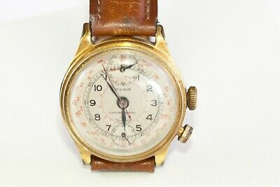 AU540 • Buy Pierce.  One Button  Chronograph Mechanical Watch. In Working Condition.c 1930's
