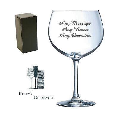 £10.25 • Buy Engraved Gin Glass - 16th 18th 21st 30th Birthday Gift For Sister Mum Daughter