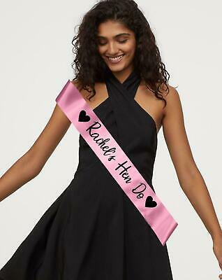 £3.99 • Buy Personalised Sash Hen Party Night Do Birthday Retirement Customised Personalized