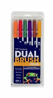 AU16 • Buy Tombow Dual Tip Brush Pens Secondary 6 Pack