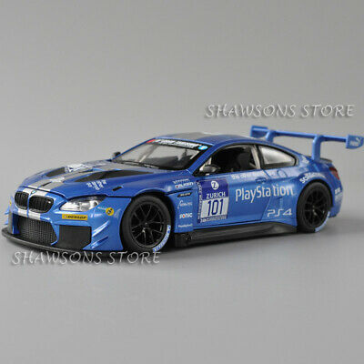$18.90 • Buy Metal Speed Zone 1:24 DieCast Racing Car Model BMW M6 GT3 Replica Collection