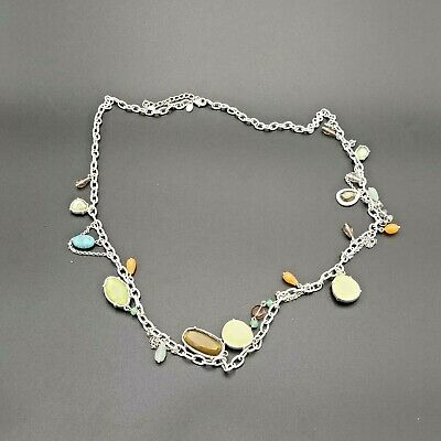 $ CDN18 • Buy Lia Sophia Multi Colored Stones On White Chain-fresh And Springy Look