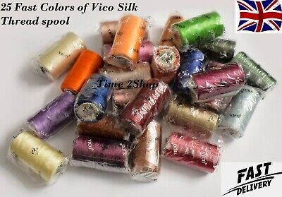 25 Embroidery Machine Thread For Brother,Janome - 25 Different Colors,New Item • 11.99£