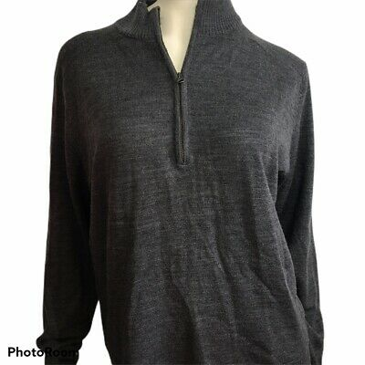 $32.79 • Buy Womens Smartwool Jacket Long Sleeve 1/4 Zip Wool Shirt Large Crew Gray Pullover