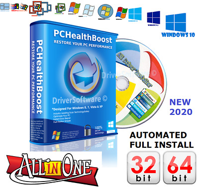 DRIVER UPDATER DVD Software - Windows 10 8 7 PRO & HOME - 1 Fast & Secure UK • 2.45£
