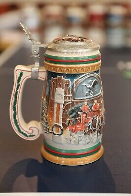 $ CDN33.33 • Buy 1997 Budweiser Holiday Stein, Signed & Numbered,  Home For The Holidays  Lidded
