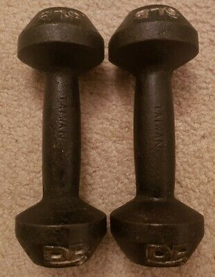 $ CDN44.14 • Buy Vintage DP 5 Lb 5lb Pound Dumbbells Cast Iron Made In Taiwan Collectible