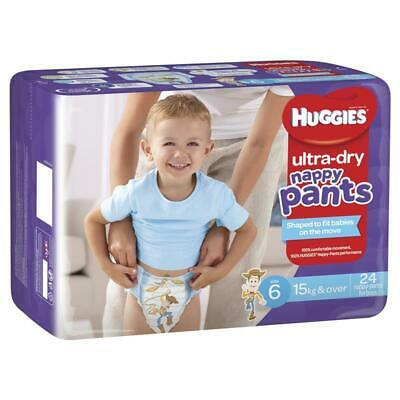 AU39.12 • Buy Huggies Ultra Dry Nappy Pants Size 6 15kg & Over Boy 24 Pack FREE POSTAGE