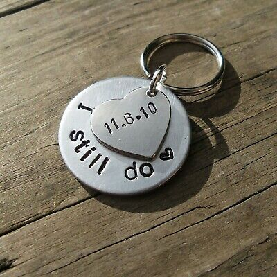 I STILL DO 10th Wedding Anniversary Gifts Ten Years Personalised Keyring Love  • 12.99£
