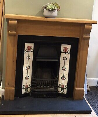 Gallery Prince Victorian Style Cast Iron Fire With Wooden Surround • 250£