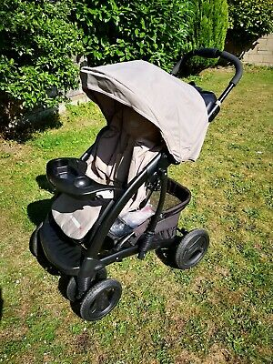 Graco Quattro Tour Deluxe Travel System Pushchair In Beige Very Good Clean Cond • 39.99£