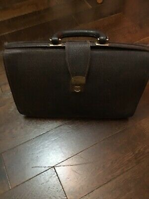 £57 • Buy Vintage Gladstone Doctors Bag Case With Cheney Lock 100% Textured Leather
