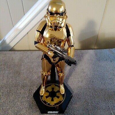 $ CDN264.48 • Buy Hot Toys 1/6 Star Wars Gold Chrome  Stormtrooper Exclusive Complete Mib