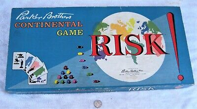 $5 • Buy  RISK  Game By Parker Brothers C.1959 W/all Pieces Except No Dice