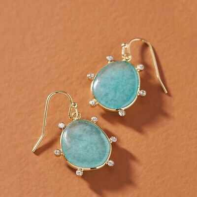 $ CDN51.39 • Buy Anthropologie Lola Drop Earrings In Mint