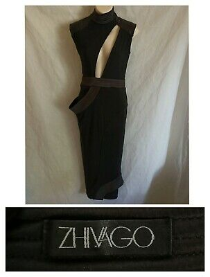 AU280 • Buy ZHIVAGO 8 Black Dress Bodycon Wiggle Maxi/Midi Cocktail Party Evening Gown