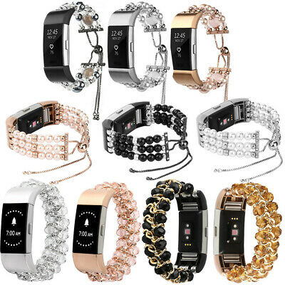 AU19.62 • Buy For Fitbit Charge 3 &2 Replace Watch Band Beads Bracelet Jewelry Wristband Strap