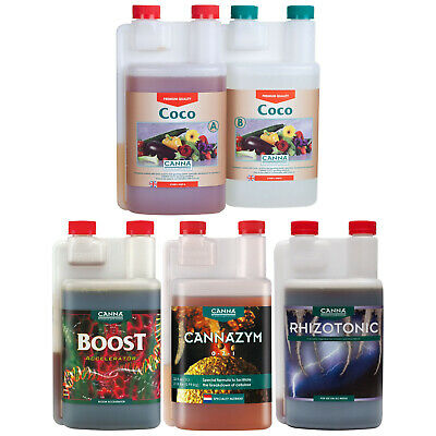 Canna Nutrient Kit Growing Pack Coco AB Rhizotonic Cannazym Boost Accelerator 1L • 109.99£