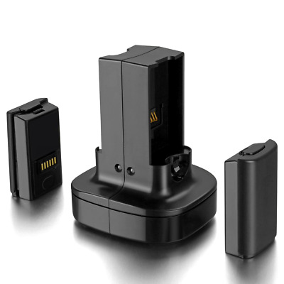 £21.28 • Buy Xbox 360 2 Pack Rechargeable Battery With Dual Charging Station Dock Charger