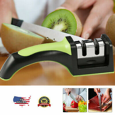 $4.99 • Buy Knife Sharpener Professional Ceramic Tungsten Kitchen Sharpening System Tool USA