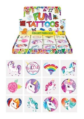 £1.75 • Buy 24 X UNICORN Temporary Tattoos Childrens Kids Girls Party Loot Bag Fillers