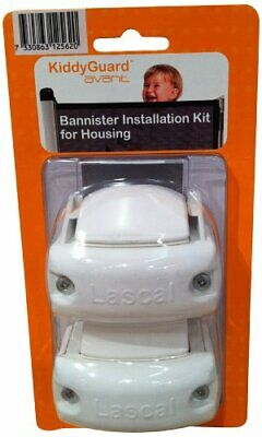 £25.99 • Buy Lascal KiddyGuard Avant Stair Gate Bannister Kit For Housing - 2 Pieces - White