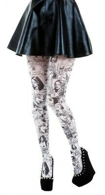 Comic Book Print Tights Available In 2 Colours (Made In Italy) • 7.95£
