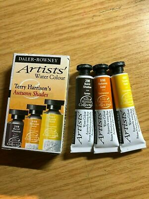 Daler Rowney Terry Harrison's Autumn Shades 3x5ml Water Colours • 15£