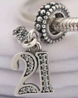 925 Solid Sterling Silver Charm EURO Style Bracelet 21 Age 20s Pandora's Bliss • 11.04£