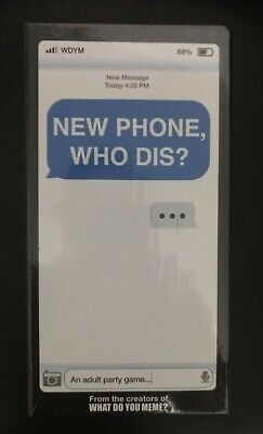 AU49.63 • Buy New Phone, Who Dis? - Adult Party Game By What Do You Meme?  Brand New