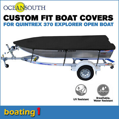 AU171.52 • Buy Oceansouth Trailerable Custom Boat Cover For Quintrex 370 Explorer Open Boat