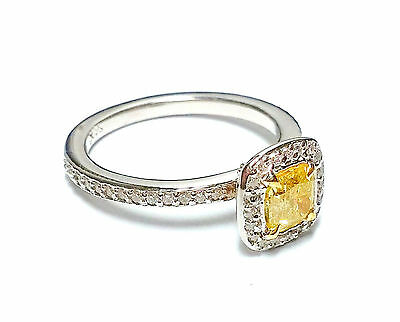 1.07ct Fancy Intense Yellow Diamond Engagement Ring 14K Canary VS2 All Natural • 1,525.31£