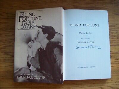 Laurence Olivier Signed 'BLIND FORTUNE' By Fabia Drake Book AFTAL/UACC RD • 120£