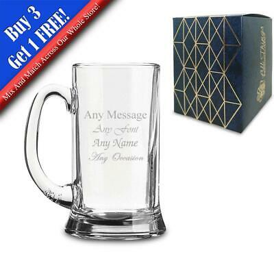 Personalised Engraved HALF PINT Icon Tankard Pint Cider Beer Glass Perfect Gift • 8.95£
