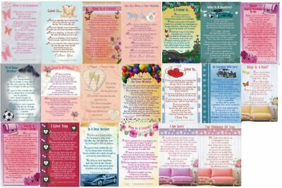 Wallet Purse Mini Keepsake Cards Sentimental Inspirational Message Verse Mini  • 2.29£