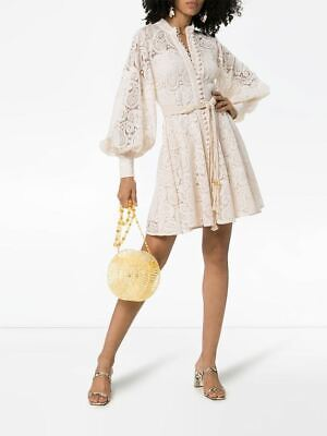 $308 • Buy New With Tag $750 Zimmermann Amari Paisley Lace Short Dress Size 1