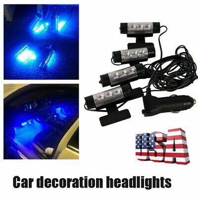 $6.50 • Buy 4x 3LED Lamp Lights Car Charge Interior Accessories Floor Decorative Atmosphere