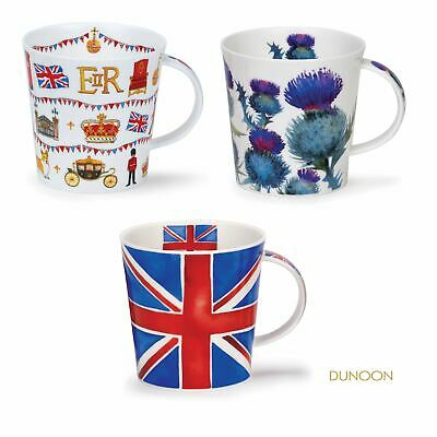 Dunoon Cairngorm Fine China Mug Cup London Scottish Thistles Union Jack 480ml • 20.99£