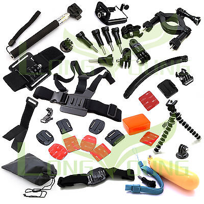 $ CDN34.24 • Buy Gopro Accessories Set With Case Chest Monopod Ski Pole Surf For Gopro3 3+ HERO4