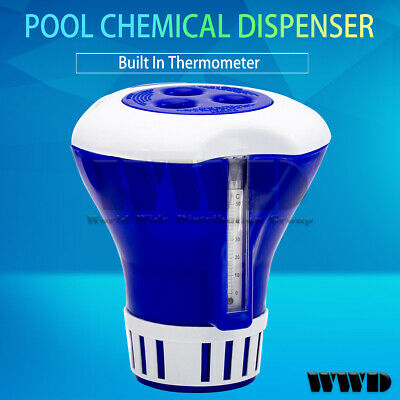 $14.99 • Buy Chemical Dispenser Chlorine Feeder Floating W/ Build In Thermometer For Pool Spa