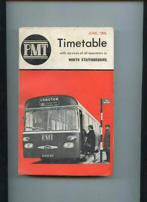 Potteries Motor Traction (PMT) North Staffordshire Bus Timetable Booklet, 1965 • 10£