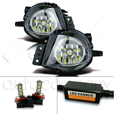 $65.99 • Buy Fit 06-08 BMW E90 3 Series Replacement Fog Lights W/LED Bulbs & Error Canceller