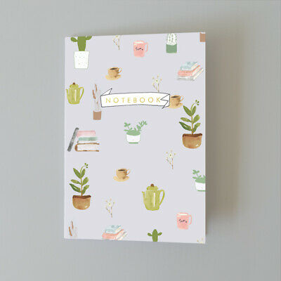 AU14 • Buy A5 Bullet Dot Grid Journal Notebook Plants And Coffee AUS Made