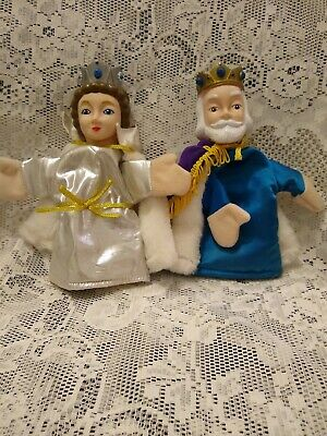$399.98 • Buy Mr Rogers Neighborhood King Friday And Queen Sara Hand Puppets Dakin 1988