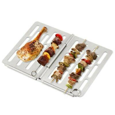 AU9.49 • Buy Stainless Steel BBQ Grill Mat Non-stick Mesh Net Barbecue Grilling Baking Tray