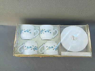 Antique Coffee Service Opaline Arcopal 4 Cups Tableware French Antique • 23.24£