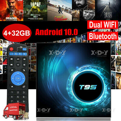 AU60.70 • Buy 2020 T95 Android 10.0 4+32G 6K Quad Core Smart TV BOX WIFI 64Bit CPU Home Player