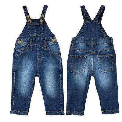 Baby Boys Denim Dungarees Toddler Bodysuit Authentic New Age 3 Months To 5 Years • 17.99£