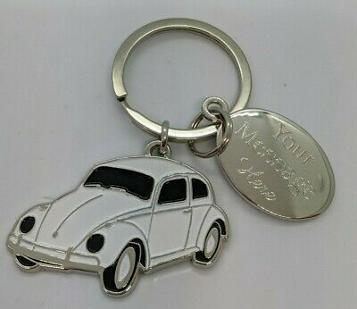 Vw Beetle Key Ring Engraved Personalised Gift  • 6£